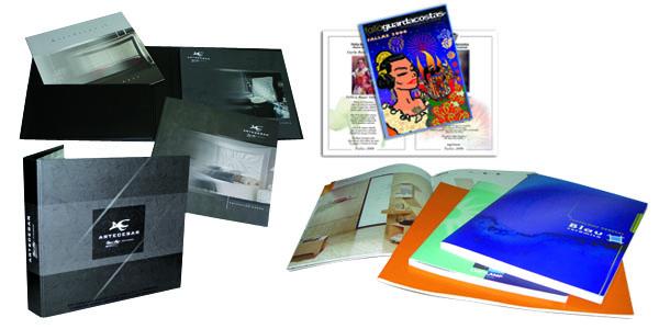 Catálogos, folletos, todo tipo de impresiones